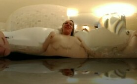 Girl masturbating with hot tube Jets VR 360 intimate experience